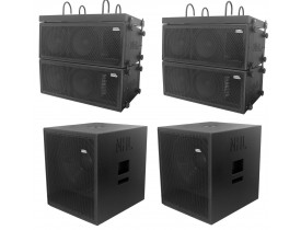 "Kit Ativo (Line Array 2x10"" Ti + Sub 18"") Oversound 6 Cxs 4000w"