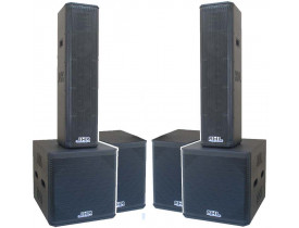 """Kit Ativo (4X8""""Ti + Sub 18"""") 6 Caixas 9600w"""