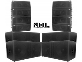 "Kit Ativo (Line Array 2x10"" Ti + Sub 18"") NHL 12 Cxs 14400w TOP"