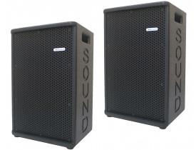 """Caixas Ativa + Passiva 1x 10"""" 400W M10.400AP c/ USB Bluetooth"""