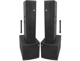"Kit Ativo Line Vertical NHL (4x8""+ti + Sub 18"" Compact) 3200w 4 caixas"