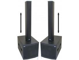 "Kit Ativo Line (Coluna 16x3"" + Sub 18"" Compact) 3000w 4 caixas Easylink vl3000"