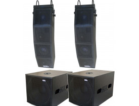 "Kit Ativo (Line Array 10""/6"" Ti + Sub 18"") NHL 4 Caixas 4200w Estereo"