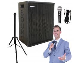 """Kit """"P30"""" para Oratória Louvor Campanha c/ Caixa Microfone Pedestal"""
