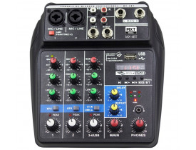 Mesa De Som Mixer MXT MX-A4BT Bluetooth USB